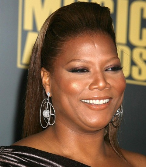 Queen Latifah retro rockabilly hairstyle
